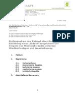 Stellungnahme zur Länderöffnungsklausel im Baugesetzbuch