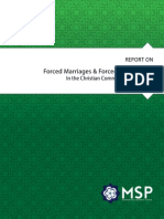 MSP Report - Forced Marriages and Conversions of Christian Women in Pakistan