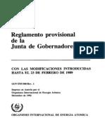 Reglamento Provisional de la Junta de Gobernadores de la Organizacion Internacional para la Energía Atómica (OIEA)