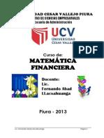 Mate Financiera Cesar Vallejo 2013