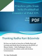 1o Priceless Gifts From Srila Prabupad