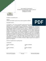 Carta Investigacion
