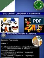 SHA. UNIDAD 1. Introduccion de Seg e Hig y La Legislacion Venezolana.