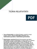 TEORIA RELATIVITATII