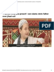 'Practice what you preach'_ son slams cleric father over jihad call - Al Arabiya News