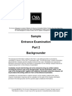 Michaels Custom Woodworking Ltd. Backgrounder 2005 Exam CMA