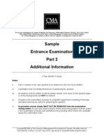 Michaels Custom Woodworking Ltd. Additional Information 2005 Exam CMA