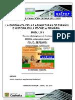 FORMATO PRODUCTOS MÓDULO II -Curso-Taller- LA ENSEÑANZA DEL ESPAÑOL Y LA HISTORIA -2013-2014-Unitep053-Atp-Fjir-UNiTEP