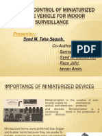 Wireless Control of Miniaturized Mobile Vehicle for Indoor Surveillance