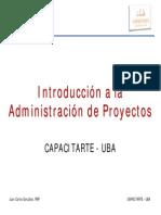 Introduccion a La Administracion de Proyectos
