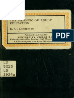 Eduard C. Lindeman - The Meaning of Adult Education