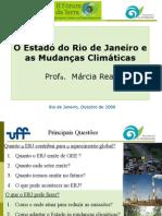 """Slides da palestra """"O Estado do RJ e as Mudanbças Climáticas"""" - II Fórum da Terra"""
