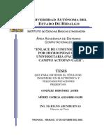 Enlace de comunicaciones por microondas ciudad Universitaria (Pachuca)–Campus Actopan UAEH