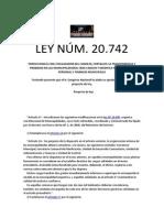 LEY NÚM 20742