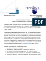 state of state press release