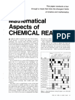 Mathematical Aspects of Chemical Reaction