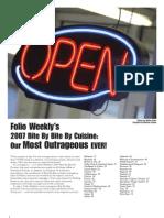 Folio Weekly - Bite By Bite 2007
