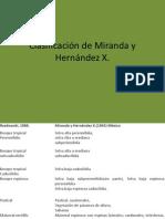 Clasificación de Miranda y Hernández X