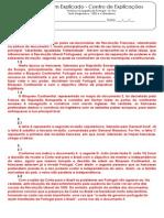 A.3 Teste Diagnóstico - 1820 e o Liberalismo (1) - Soluções