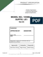 Panel Chimei Innolux v236bj1-Le1 0 [Ds]
