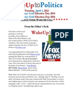 Wake Up to Politics - April 1, 2014 - April Fool's Day 2014 Edition