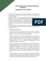 DISEÑO Y CONSTRUCCION DE UN AMPLIFICADOR DE POTENCIA