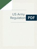 US Army Regulations