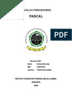 Makalah Pemrograman Pascal Ahmad Musorip