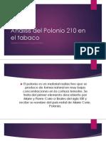 Análisis del Polonio 210 en el tabaco y en el humo