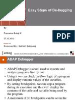 Easy Steps of de-Bugging