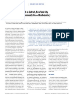Metzler Et Al - Addressing Urban Health w. CBPR