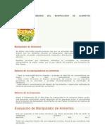 DEFINICIÓN Y DEBERES DEL MANIPULADOR DE ALIMENTOS