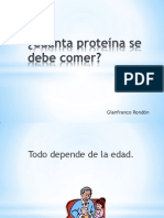 Cuánta proteína se debe comer