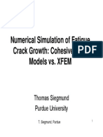 Cohesive Zone Models vs. XFEM