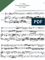 Bach - Double Violin Concerto in D Minor Violin Solo and Piano