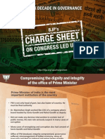 BJP's Chargesheet against Congress led uPA