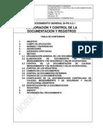 DI-PG 4.2.1 Elaboracion y Control de Documentos 10-01-10