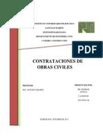 Trabajo Contratacion de Obras Civiles