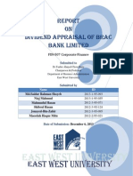 Dividend Appraisal of Brac