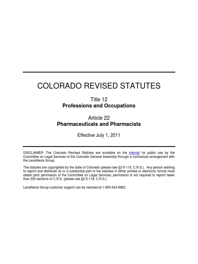 Medical abbreviation for between - Colorado Revised Statutes Crs 12 12