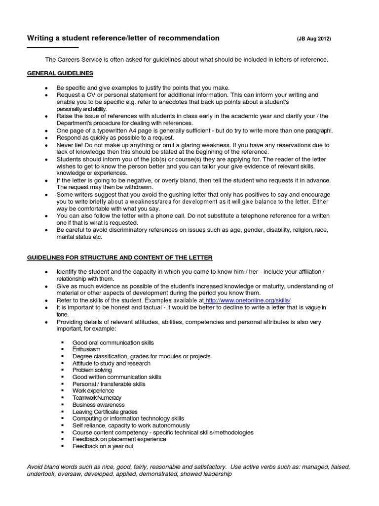 Writing a student recommendation letter students graduate school expocarfo Choice Image