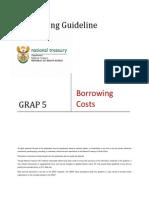 GRAP Guideline 5 - Borrowing Costs