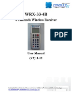 Consultix WRX-33 4ch User Manual V2 11-12
