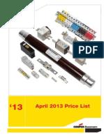 COOPER Price List Full Range - April 2013 r2