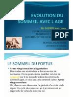 Evolution Du Sommeil Avec Age