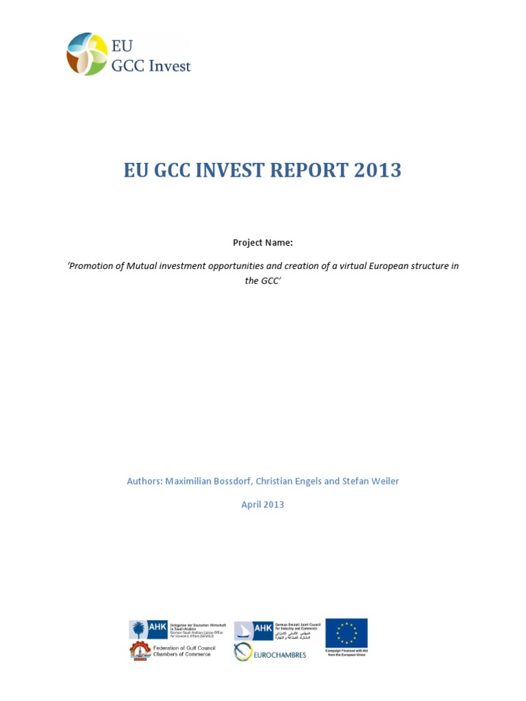 Eu Gcc Invest Report 2013 Gulf Cooperation Council Foreign Animal Scarer Hobby Circuits And Projects Direct Investment