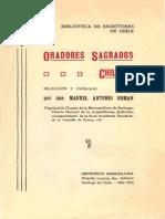Chile, Oradores Sagrados Chilenos, Oraciones y Sermones Ceremoniales Religiosos, 1800-1900