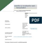 Analiza Costurilor Si Rezultatelor Unei Intreprinderi 2012