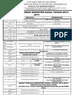Kalender Akademik Semester Gasal Tahun 2013 2014
