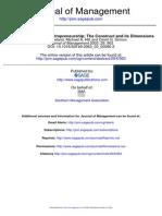 A Model of Strategic Entrepreneurship the Construct and Its Dimensions Duane Ireland Et Al